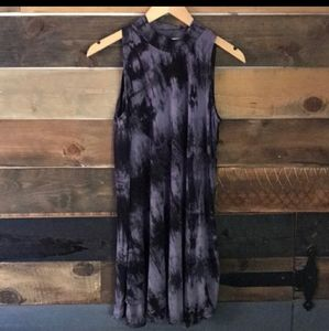 Ginger G Sleeveless Tie Dye Knit Dress